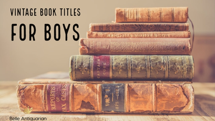 Vintage Book Titles for Boys
