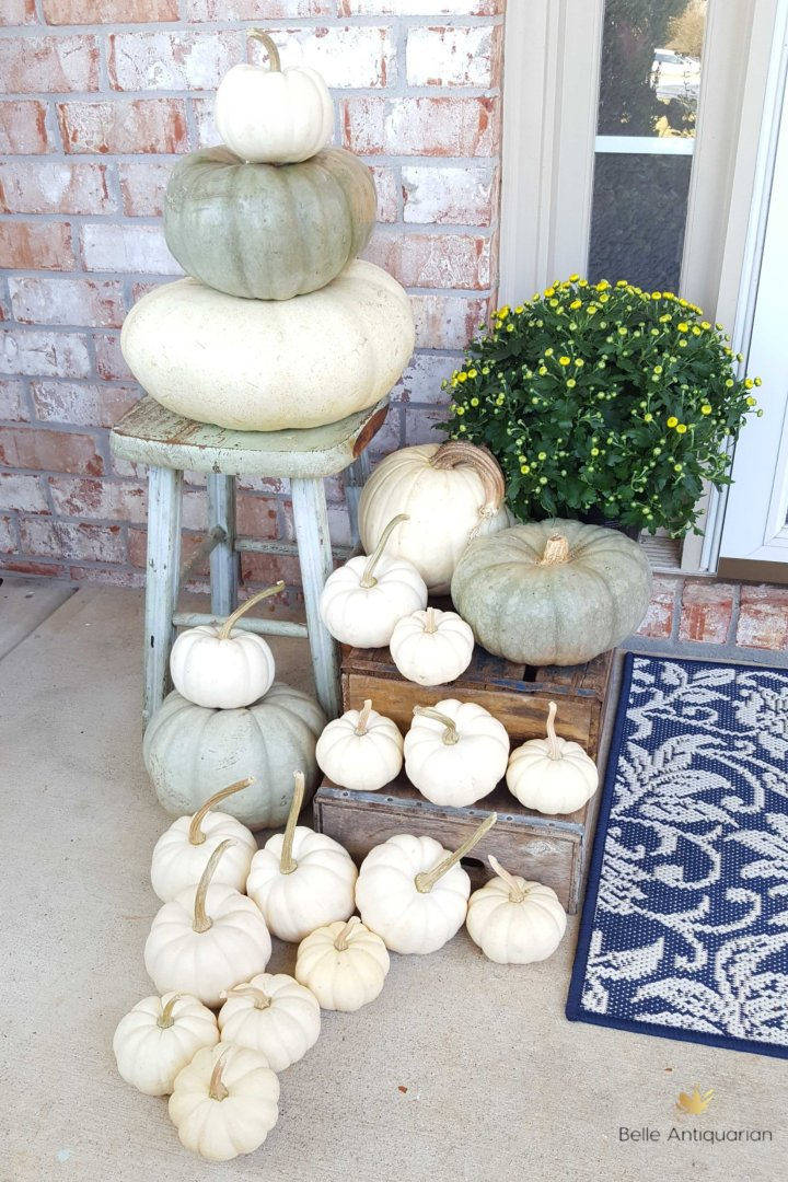 Our Porch Pumpkins for Halloween through Thanksgiving