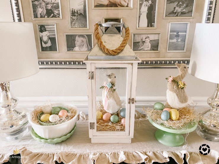 Easter entry table decor